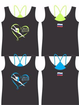 Изображение Майка борцовка Rhythmic Gimnas-флаг России